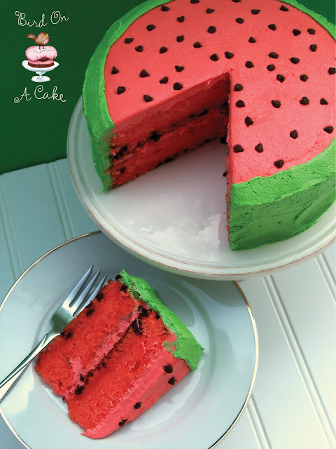 Having a summer wedding, maybe BBQ themed? Try watermelon cake!