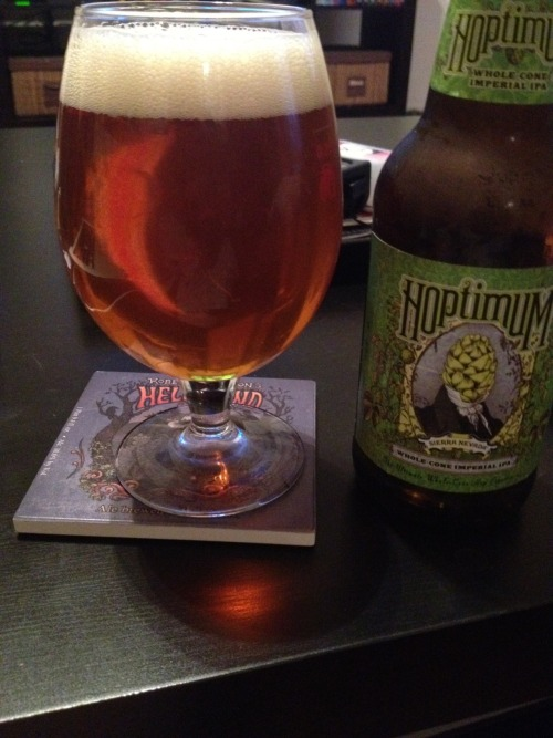 Sierra Nevada Brewing Co | Hoptimum | 10.4% ABV Double IPA Sierra Nevada seems to be able to do no wrong with me lately. Hoptimum is their annual double IPA release and it's fantastic! Sweet. Bitter. Fresh. Floral. This is a great IPA. If you can get your hands on it, do it! Love it. Price: $7.99/4pack Rating: 9/10