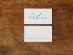 Erin Ellis Business Card Lettering and design by Erin Ellis Letterpress on Mohawk Superfine bright white 130#