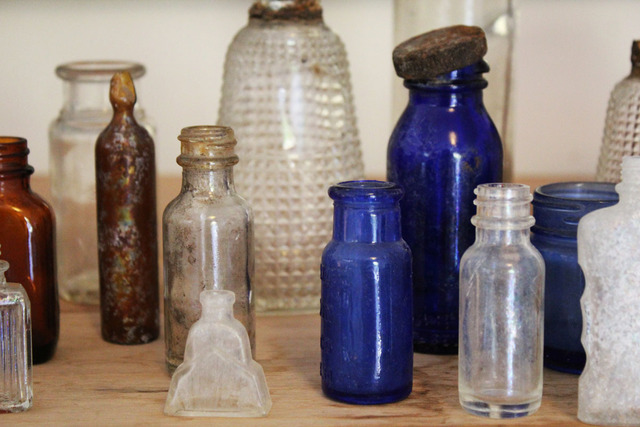 Fuck your vignette of tiny vintage glass bottles.