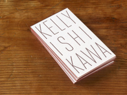Kelly Ishikawa Business Cards Design by George McCalman Letterpress printed on Cranes lettra fluorescent white duplex 220#, edged