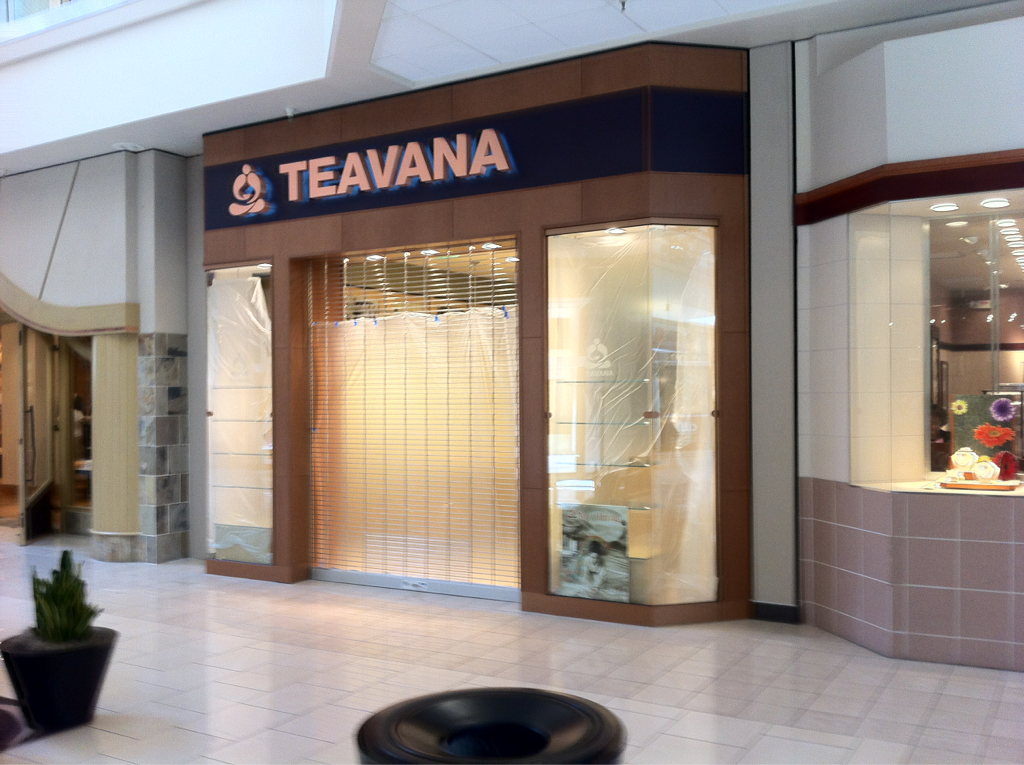 If I read the tea leaves right, it looks like Teavana is about to open in the mall…