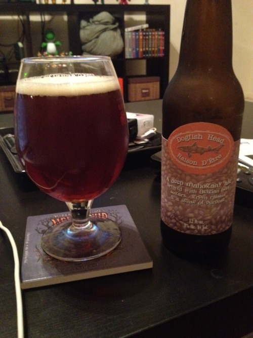 Dogfish Head | Raison D'Etre | 8% ABV Belgian Strong Dark Ale? I never really thought of this as a belgian but I guess it kind of makes sense. The raisons give it a sweet taste that compliments the malts very nicely. This is a good beer if you like it sweet.  Price: $9.99/6pack Rating: 6/10