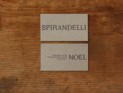 Noel Spirandelli Business Cards Designed by George McCalman Letterpress on grey chipboard