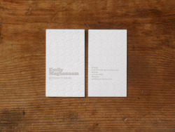 Emily Mughannam Stationary  Design by George McCalman Letterpress on Mohawk superfine bright white 130#