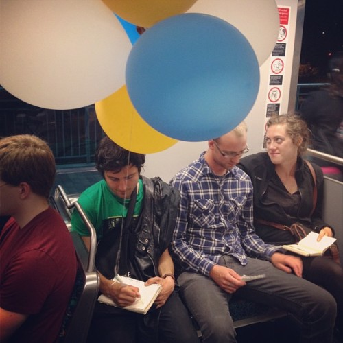 Balloon enthusiast poet type (Taken with Instagram at Metro Gold Line Heritage Square/Arroyo Station)