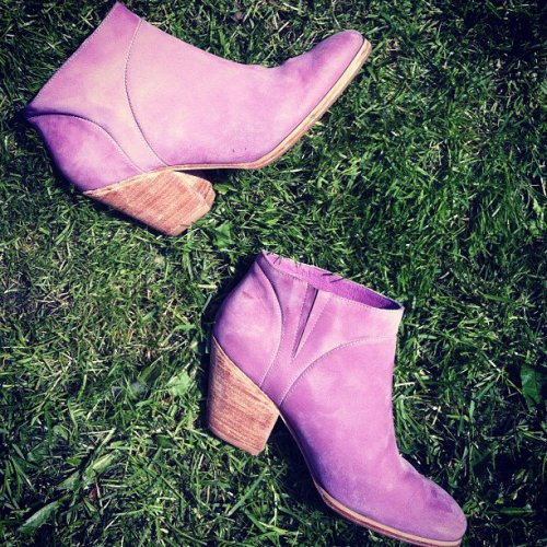 solestruckshoes:  Soaking up some sun w/ Rachel Comey MARS boots:)