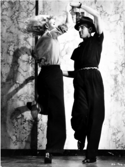 Hermes Pan choreographer to Fred Astaire and Ginger Rogers.  Pictured here with Ginger.  Highly entertaining blog Beguiling Hollywood, great insider history on old Hollywood and more.
