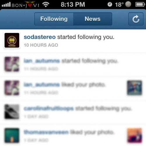Thanx @sodastereo !  (Taken with Instagram)