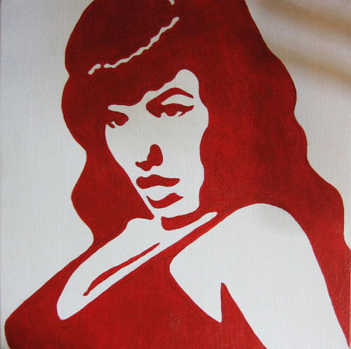 littlebunnysunshine:  bettie page by Nadine Miranda