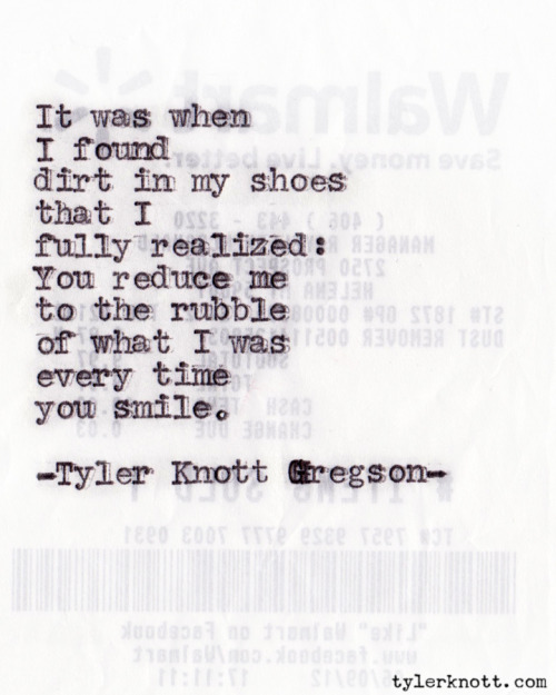 Typewriter Series #78 by Tyler Knott Gregson