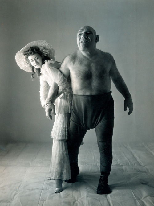 gatesofdel:  Dorian Leigh and Maurice Tillet, 1945 - Photograph by Irving Penn