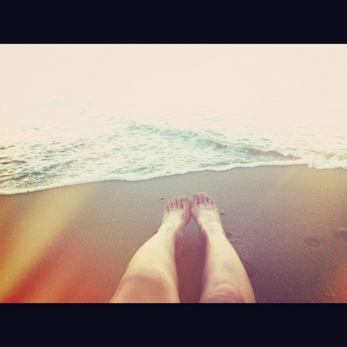My feet in the sand #santacruz #beach #california  (Taken with Instagram at Santa Cruz, CA)