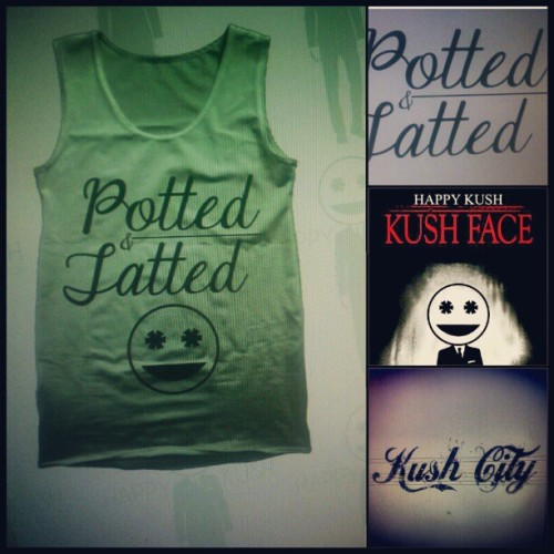 #Potted&Tatted fresh and poppin…  #kushcity #kushcityshirts #kushcitybitch #kushhead #green #tatted #potted  (Taken with Instagram)