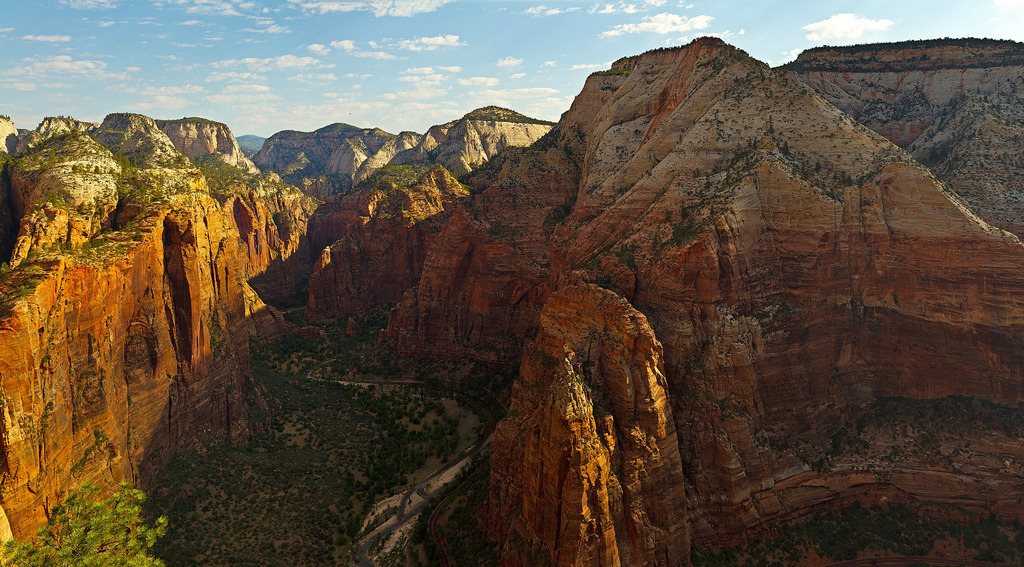 Looking north from the top at angel's landing, Zion National Park, Utah