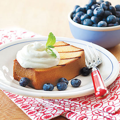 Grilled Pound Cake with Lemon Cream and Blueberries #recipe via @allyou