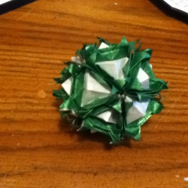 Florentine kusudama by Natalia romanenko :) folded by me ^^ (Taken with Instagram)