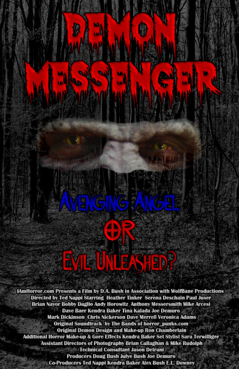 Demon Messenger is now available to watch online!  Please check it out & Support Original Horror! https://www.thewatchbox.com/movies/224-demon-messenger#video702