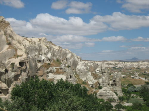 Göreme Open Air Museum, where the early Christians carved churches into the soft rock. Cappadocia, Turkey.