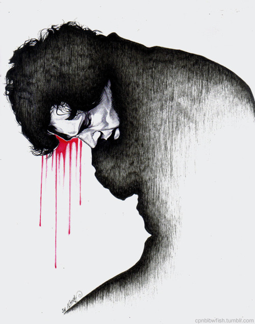 cpnblowfish:  Sherlock - The Fall, Ballpoint pen drawing.