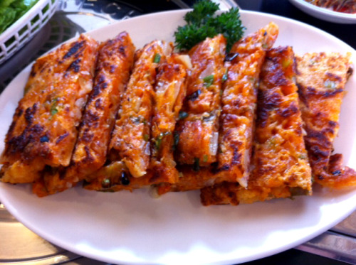 Grub-O-Meter: 4.5 out of 5 Bellies-Up (Pictured- KimChi Pancakes) Han Il Kwan1802 Balboa St(between 19th Ave & 20th Ave) San Francisco, CA 94121Neighborhood: Outer Richmond(415) 752-4447