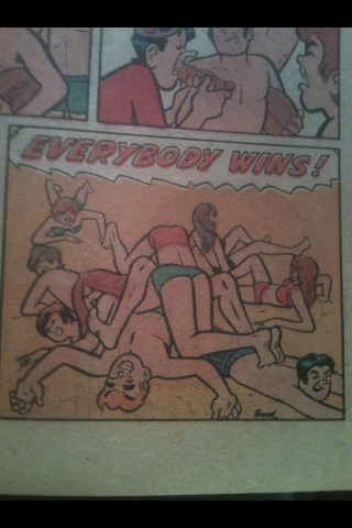 knowyourchicken:  In Archie comics, everybody wins!