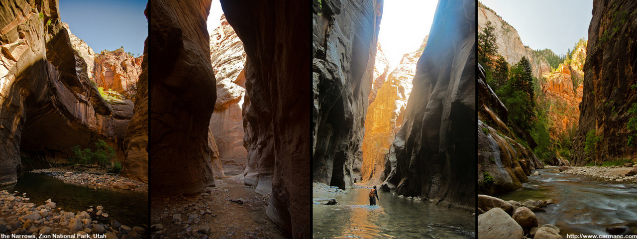 Day hike in the Narrows, Zion National Park, Utah