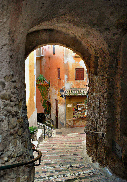 | ♕ |  Ancient passage - Roquebrune, France  | by © Charlottess  via ysvoice : anythinginfrench