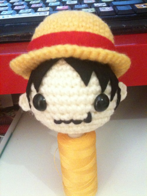 Luffy in the making, inspired by the block collection