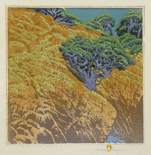 yama-bato:   [+] Point Lobos   Artist  Gustave Baumann   1881 - 1971 Year 1946   Technique color woodcut