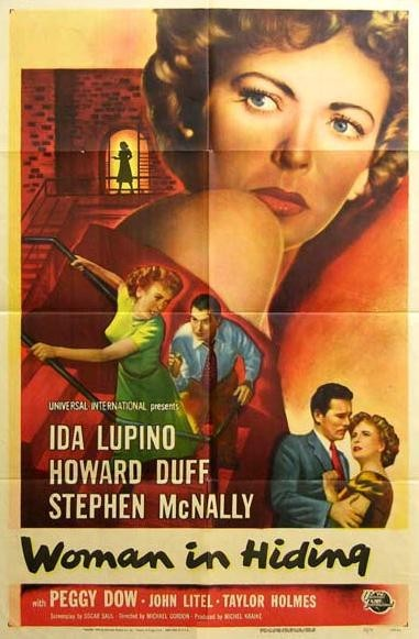 "Saw ""Woman In Hiding"" for the first time.  What a great movie!  Love Ida Lupino!  This one's also on  TCMs Woman In Danger - 1950s Thrillers DVD set.  Looking forward to seeing the other 2 films!"