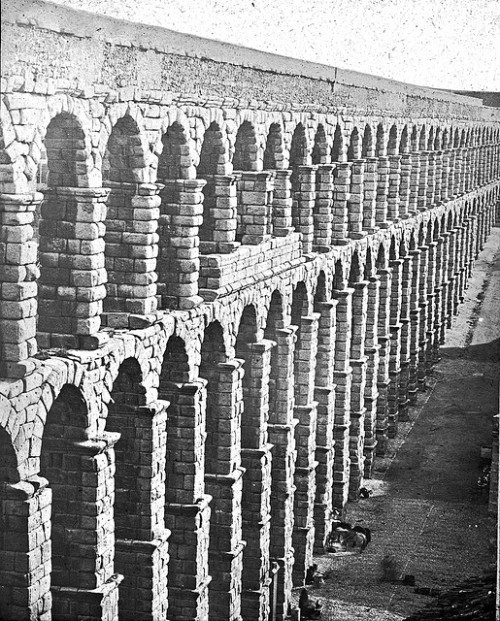 Roman aqueduct, Segovia, Spain. Brooklyn Museum Archives