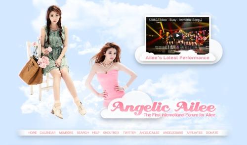 "Header for AngelicAilee designed and coded by yours truly in CS5.5 was released today! So here are my comments and notes about the process. Created & Designed in: Adobe Photoshop CS5.5Coded in: Adobe Photoshop CS5.5 & Adobe Dreamweaver CS5.5 First Issue: The Navigation BarThe navigation bar wasn't much of a difficulty to code since the ""Slices"" and ""Save for Web and Devices…""  option in Photoshop that sends the file to Dreamweaver with basic coding helped. It was a pain in the bum when I was uploading it to the preview forum though. 2 sets of images were needed for 3 sections of the code: 1st section was for the normal image, 2nd section for what the image looks like when the mouse is on top, and finally the 3rd section for what it looks like when the mouse comes off. With 11 categories, it was just a matter of being organized so I don't mess things up, put the wrong image in the wrong spot etc. Second Issue: The YouTube VideoNo one told me that Flash and z-index hated eachother. Nobody. As you can see in the image, to create that layering effect on the top right corner, you need to use the z-index property. However, when you use Flash (the youtube video) as a layering element, it refuses to work. On my Mac, it looked fine on Google Chrome, Firefox, and Safari. Then I tried it on my PC. It refused to work on both Google Chrome and Firefox by ignoring the z-index and just staying on top of the ""Ailee's Latest Performance"" cloud. I didn't get why then, I still don't get it now. Hours, days, of me just mulling over how to get over this problem. I also asked my design friends if they knew how to deal with this problem. They tried helping, and I thank them so much for it, but it remained a mystery. When push came to shove, I had no choice but to alter the ""Ailee's Latest Performance"" cloud lower so that even if it messes up, it'll sorta look like it was part of the plan. Honestly, it wasn't, and I'm disappointed that I wasn't able to solve it. But, given this problem, it still came out okay. Ailee-ans loved the header, and I'm glad that they do. I expected the worst to be honest. Complaints about how it doesn't show up properly, especially. In the end, it all worked out and I'm happy that everyone loves the new header :)"