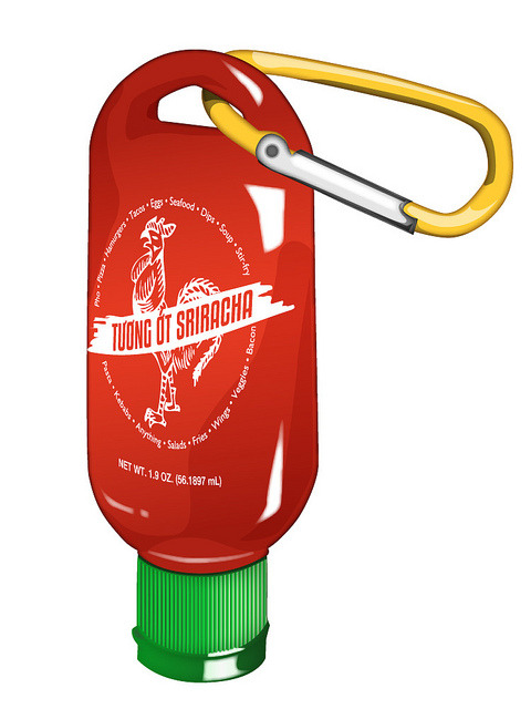 Sriracha Mini on Flickr. Via Flickr: Quickie thing I did in Illustrator of something that SHOULD exist.