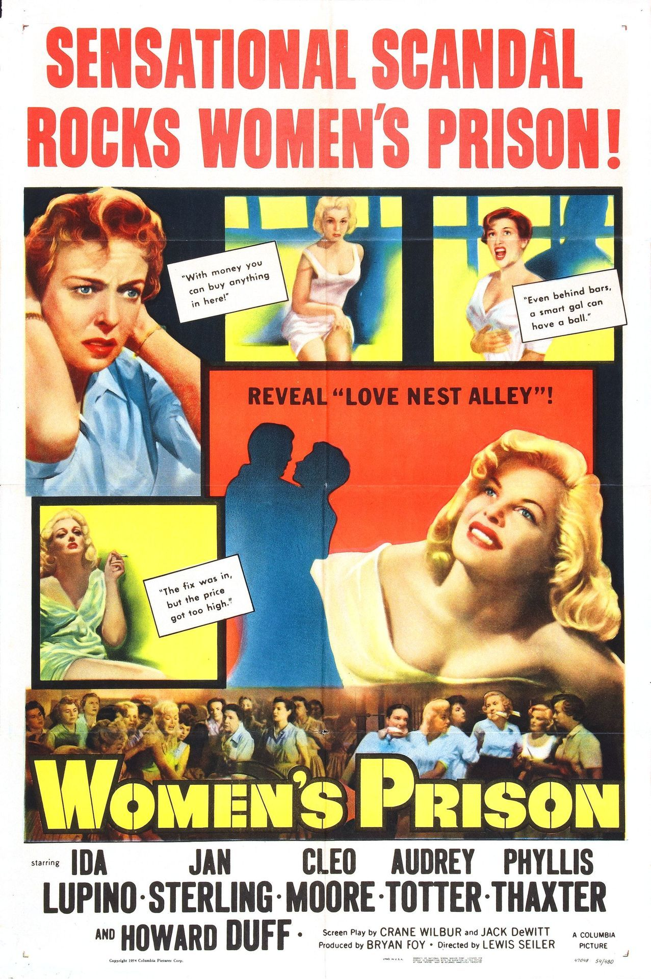 "The incredible ""Women's Prison"", which is a connect the dots movie between ""Woman In Hiding"" (Ida Lupino) and ""Female On The Beach"" (Jan Sterling)."