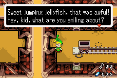 weavingthroughtimeandspace:  LOL I'm playing LoZ Minish Cap and look what he said. Jumping jellyfish :3
