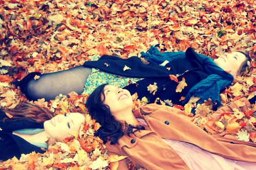 Lying amongst the fallen. Photo by Kyra.