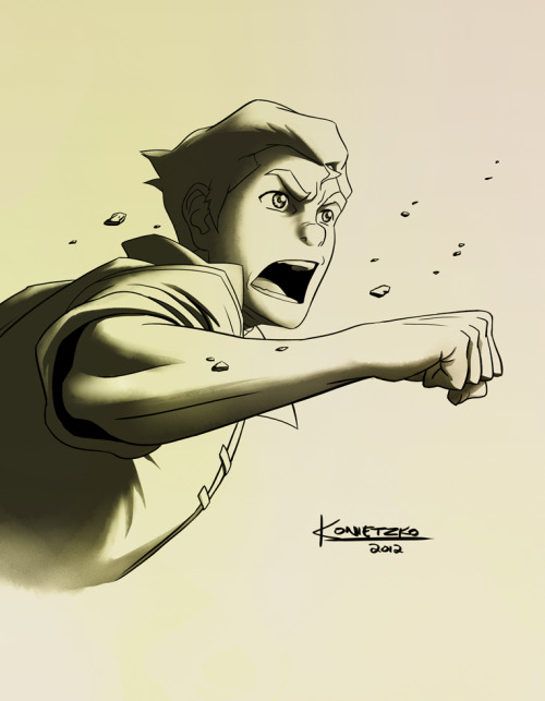 bryankonietzko:  Bolin RAWR! In progress, for the finale press art.