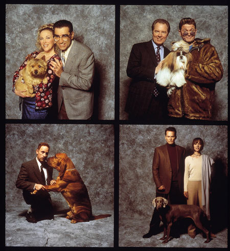 "Best in Show (2000) PG-13 90 Minutes ""Master mockumentarian Christopher Guest (Waiting for Guffman) is at it again with this snarky send-up of canine culture that traverses the galloping neuroses surrounding one highly competitive dog show in Pennsylvania. Talented improvisers Parker Posey, Eugene Levy, Michael McKean and Catherine O'Hara elevate this satire to the stuff of genius. Fans of This Is Spinal Tap, television's ""SCTV"" — and dogs, of course — will find much to love."" [June 10 2012]"