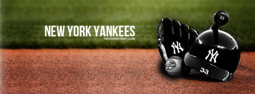 New York Yankees Hat Ball Bat And Glove Facebook Cover