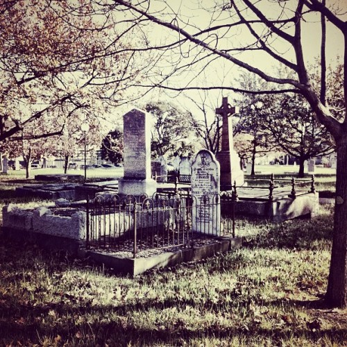 'I wonder how long they'll mourn me' #dailyphoto #photooftheday #grave #cemetery #death  (Taken with Instagram)