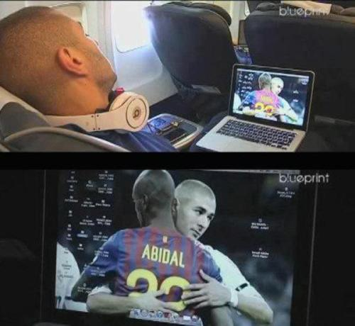 "football-addict: Benzema's wallpaper. This is too sweet :"")"