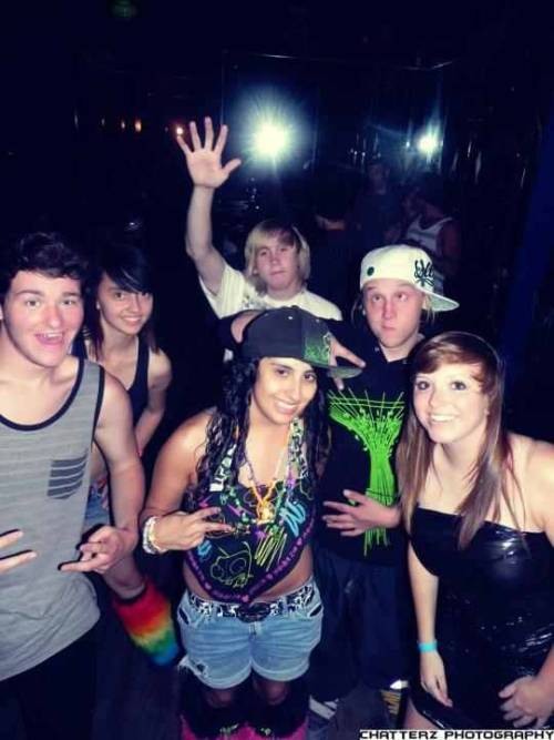 Anything But Clothes Party 6.9.12 at In The Venue(: Sky, Kelsey, Peege, Sean, Malinda, and I.