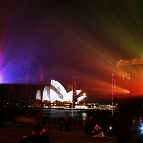 It's lights on at #vividsydney for the last time in 2012! By Hayden Cook (Taken with Instagram)