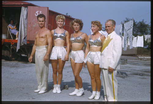 All five Alzanas Highwire performers Ringling Circus, 1949