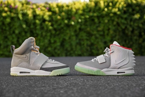 yeezy 1 or 2? the 2s' anaconda print, rear 'fins', and hieroglyphic inscriptions put these above the originals for me, showing a greater attention to detail and progression. It's as if the ancient egyptians, reincarnated as aliens, made some sneakers and sent them back from the future to 2012.