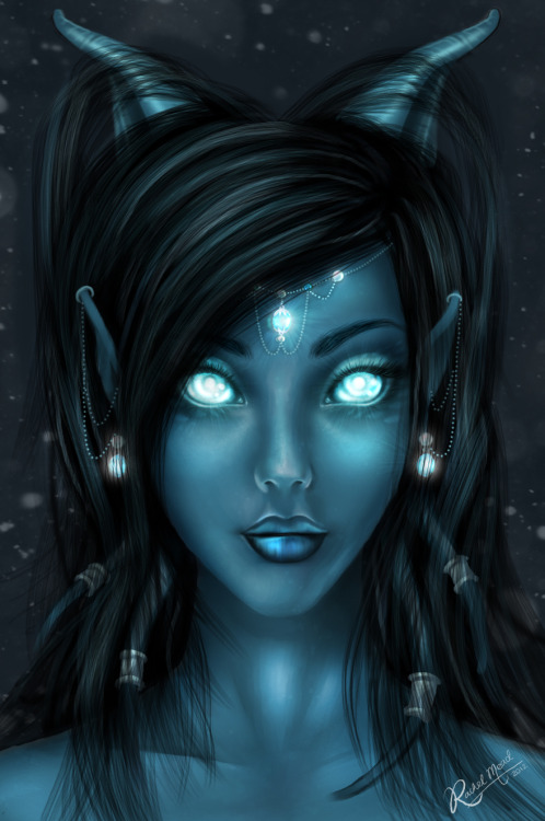 weheartwow:  Draenei Revisited by *Meado
