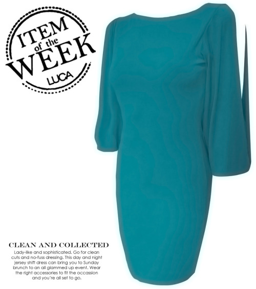 ITEM OF THE WEEK: ALANA DRESS (P2,350)  Now available at www.shopluca.com