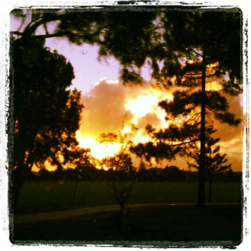 Sunset on the way home #imacitychanger #perth  (Taken with Instagram)