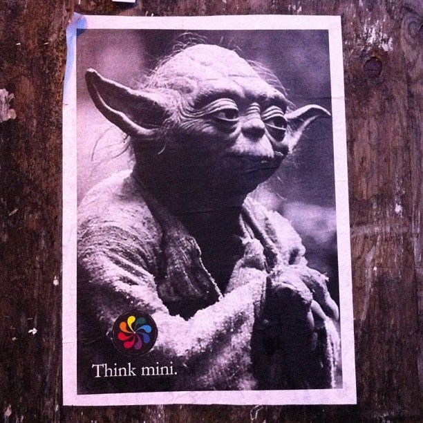Catching Yoda on that 5 AM tip #yoda #streetart #brooklyn #nyc #williamsburg  (Taken with Instagram at Greenhouse Holistic)